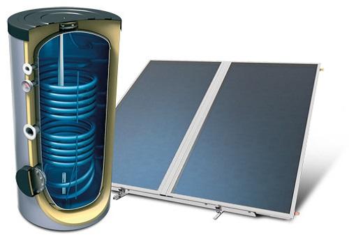boiler σύστημα βεβιασμένης κυκλοφορίας ηλιακό πεδίο